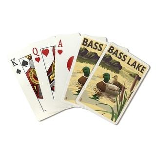 Bass Lake, California - Mallard Ducks - Lantern Press Artwork (Playing Card Deck - 52 Card Poker Size with Jokers)