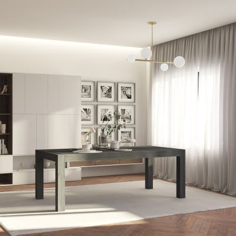 Midtown Concept Indoor Isabella Wire Brushed Wood Dining Table - Weathered Gray