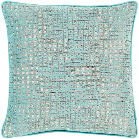 Silver Orchid Phillips Jacquard Geometric 18-inch Throw Pillow Cover