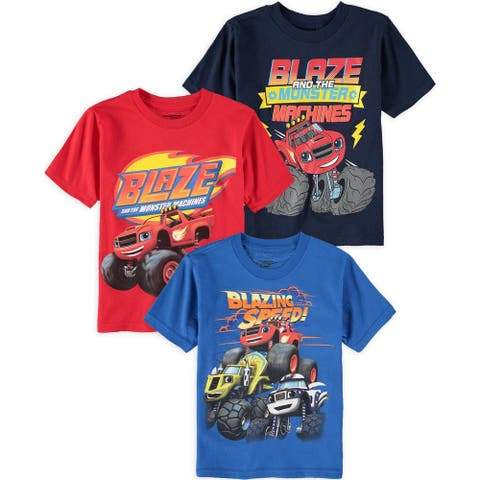 25f90342ff46 Nickelodeon Boys' 2T-4T Blaze and Monster Machines 3 Pack T-Shirt Bundle