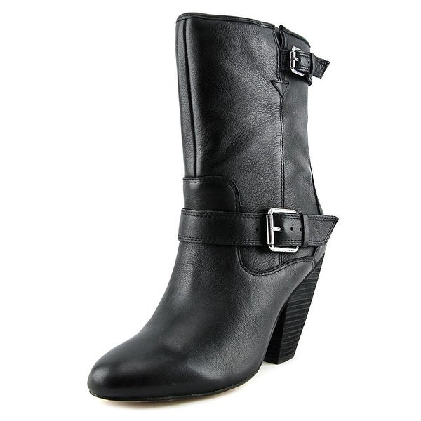 Corso Como Somers Women Round Toe Leather Mid Calf Boot