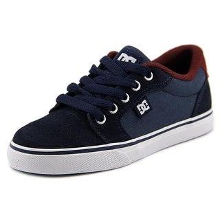 DC Shoes Anvil Round Toe Leather Skate Shoe