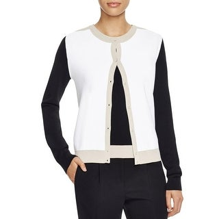 BOSS Hugo Boss Womens Cardigan Sweater Colorblock Button Down