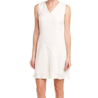 Elie Tahari NEW White Women's Size 10 V-Neck Floral Sheath Dress