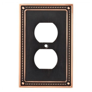 Franklin Brass W35059V-C Classic Beaded Single Duplex Outlet Wall Plate - Pack o