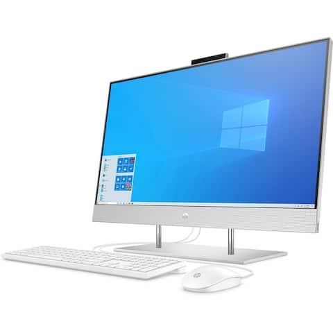 "HP Pavilion 27-DP0016 27"" 8GB 1TB AMD Ryzen 5 4500U X62.3GHz Win10,White (Refurbished)"