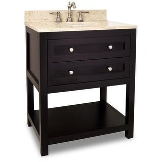 "Jeffrey Alexander VAN092-30-T Astoria Modern Collection 30"" Inch Bathroom Vanity Cabinet with Counter Top and Bowl"