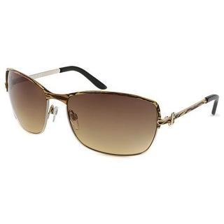 Just Cavalli JC 329S 33F Aviator Sunglasses Tiger Striped - tiger striped gold