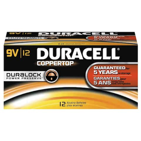 Duracell DMN1604BKD Coppertop 9V Battery, Bulk (Package of 12)