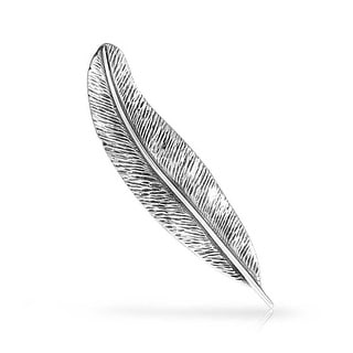 Bling Jewelry 925 Sterling Silver Feather Nature Leaf Brooch Pin