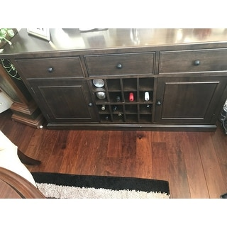 Buffet Table.Copper Grove Halifax Brown Wine Rack Buffet Table