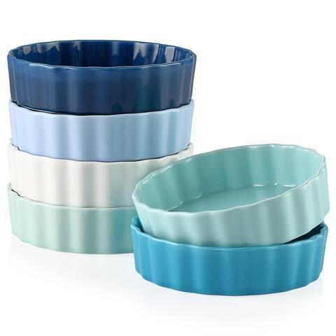 Porcelain Souffle Mini Ramekins, 6 Oz (Set of 6)