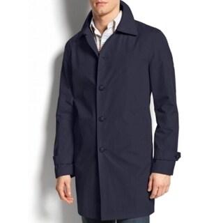 Tommy Hilfiger NEW Navy Blue Mens Size 46L Trench Rainwear Coat