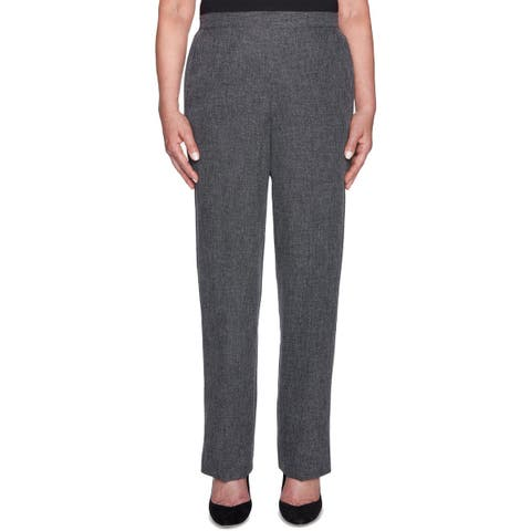 Alfred Dunner Womens Dress Pants Pull On Tweed - 10