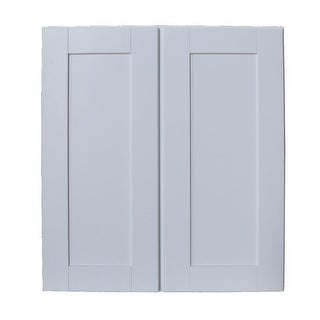 "Sunny Wood SHW2730-A  Shaker Hill 27"" x 30"" Double Door Wall Cabinet - Designer White"