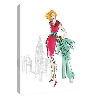 """PTM Images 9-154775  PTM Canvas Collection 10"""" x 8"""" - """"Colorful Fashion III - New York"""" Giclee Women Art Print on Canvas"""
