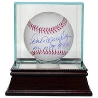 Dale Murphy signed Official Major League Baseball NL MVP 82 83 wGlass Case Atlanta Braves JSA Holog