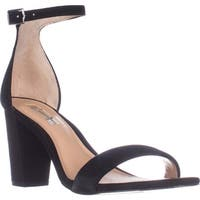 I35 Kivah Ankle Strap Dress Sandals, Black Suede