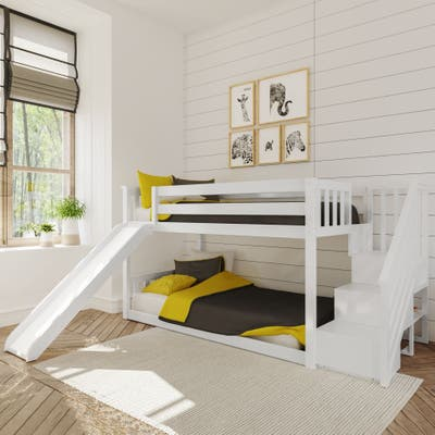 Max & Lily Low Bunk w/Staircase Bunk with Slide