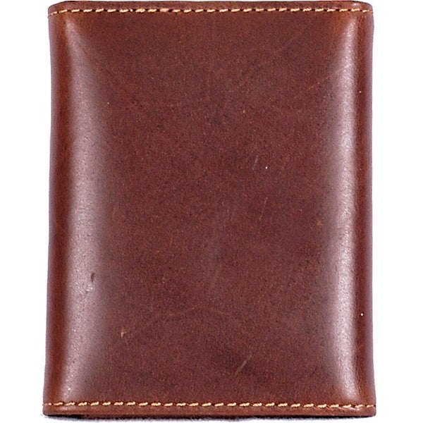 3D Wallet Mens Trifold Basic Waxy Leather Card Slots - One size