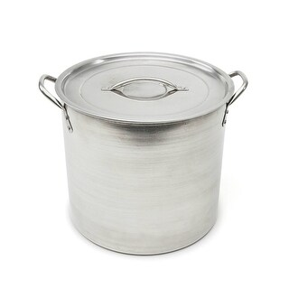 Good Cook 06182 Brushed Stainless-Steel Stock Pot w/ Lid & Handles, 16 Qt