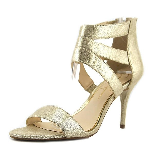 Jessica Simpson Womens Marlen Fabric Open Toe Casual Ankle Strap Sandals