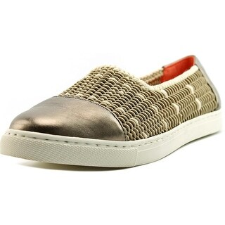 Taryn Rose Susanna Women Round Toe Canvas Gray Loafer