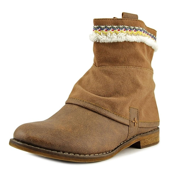 Bull Boxer Elsie Women Round Toe Synthetic Brown Boot