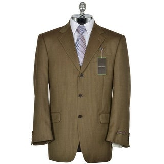 Joseph Abboud Signature Brown Wool Sportcoat 42 Regular 42R Herringbone Blazer
