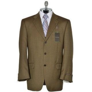 JOSEPH ABBOUD Signature Brown Wool Herringbone Sportcoat 42 Regular 42R Jacket