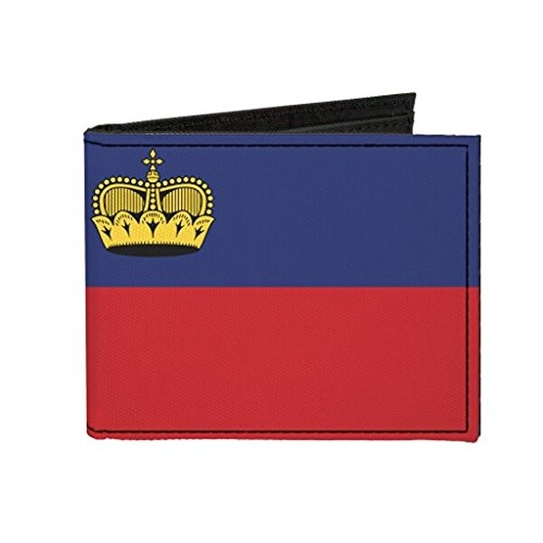Buckle-Down Canvas Bi-fold Wallet - Liechtenstein Flag Accessory