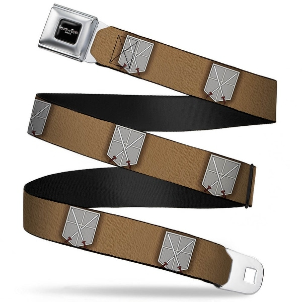 Attack On Titan Logo Full Color Black White Red Trainee Corp Logo Tan Gray Seatbelt Belt