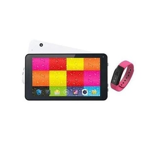 """Supersonic Sc6207fitpk 7"""" Whit Tablet And Pink Fit Band"""