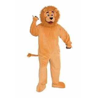 Lion Plush Animal Mascot Adult Costume - Beige