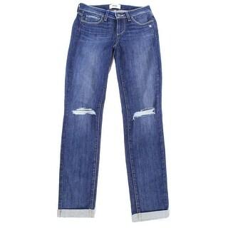 Paige NEW Blue Stacy Women's Size 30X29 Kylie Crop Destructed Jeans