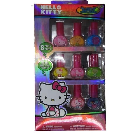 6937dcd7f Hello Kitty Girls 8 pc Peel-Able Non Toxic Nail Polish Set - One Size