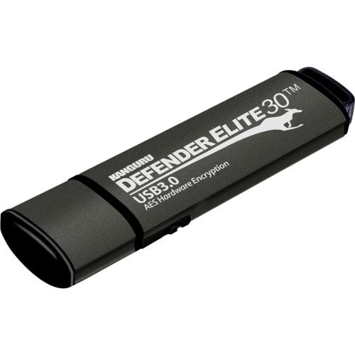"""Kanguru Solutions KDFE30-64G Kanguru Defender Elite30, Hardware Encrypted, Secure, SuperSpeed USB 3.0 Flash Drive, 64G - AES"