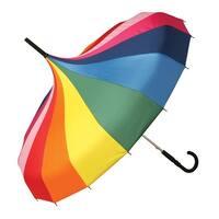Unisex Adult Circus Umbrella - Rainbow Colors Pagoda Style