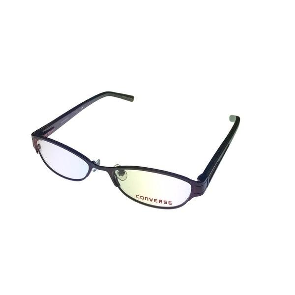 Converse Womens Opthalmic Eyeglass Modified Rectange Metal Frame Gizmo Burgundy - Medium