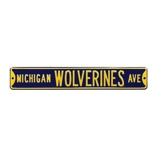 Authentic Street Signs 70007 Michigan Wolverines Avenue Navy Street Sign