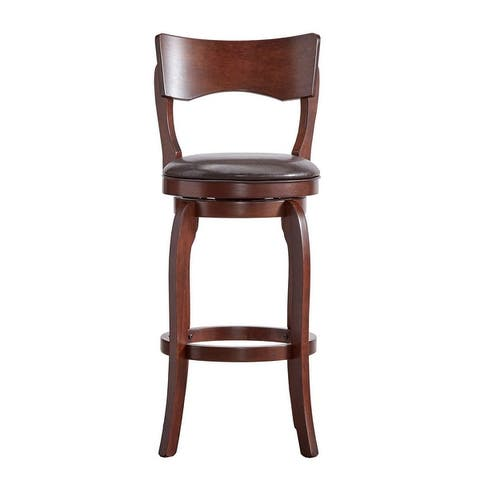 Verona Swivel 29-inch High Back Bar Stool by iNSPIRE Q Classic..