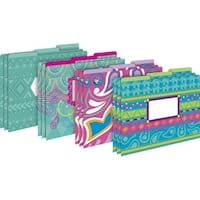 Barker Creek Letter-Size File Folders -  Bohemian,  Multi-Design Set, Pack of 12