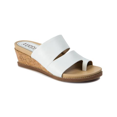 Lucca Lane Whitley Women's Sandals White
