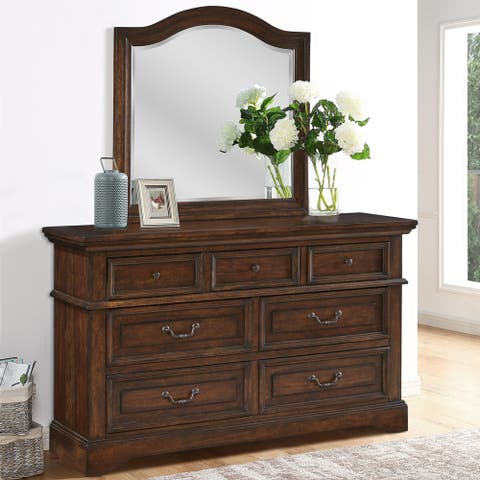 Lakewood Distressed Wood Dresser with Optional Mirror by Greyson Living