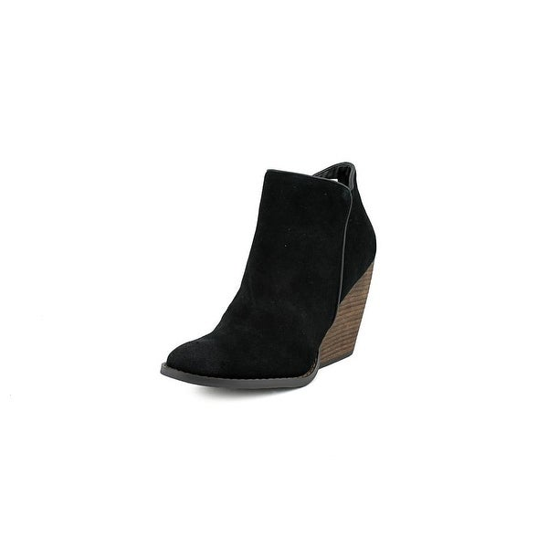 Very Volatile Whitby Women Round Toe Suede Black Ankle Boot
