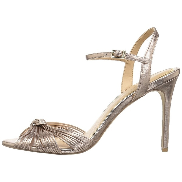 BADGLEY MISCHKA Womens Lady Leather Open Toe Special Occasion Ankle Strap San...