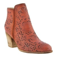 L'Artiste by Spring Step Women's Alivia Bootie Red Leather