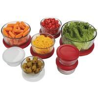 Anchor Hocking 10670 Glass Food Storage Container Set, 16 Piece