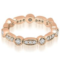 0.40 cttw. 14K Rose Gold Round Diamond Eternity Ring,HI,SI1-2