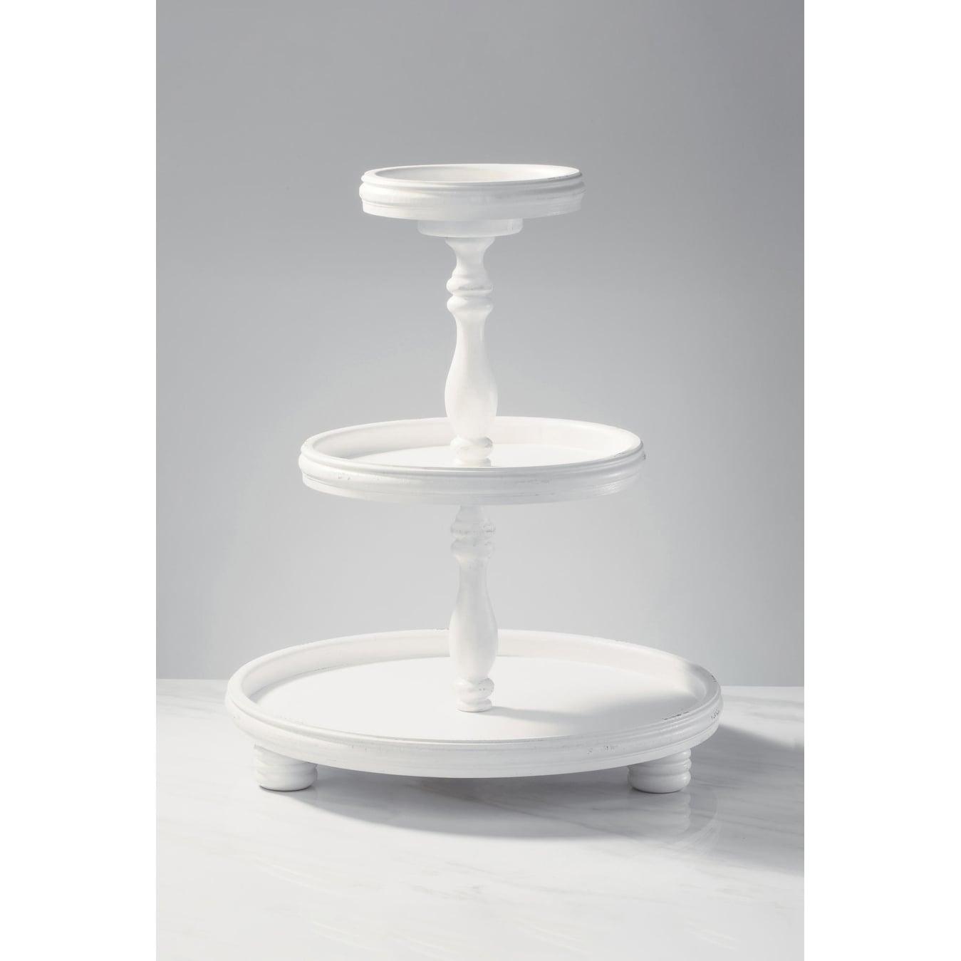 Three Tier Wooden Display Stand Overstock 16429085
